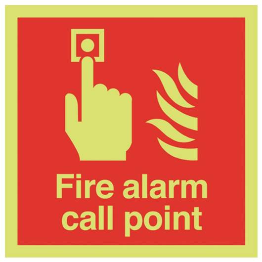 Picture of Photoluminescent Fire Alarm Call Point Sign