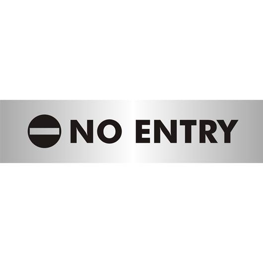 Picture of No Entry Brushed Aluminium Office Sign