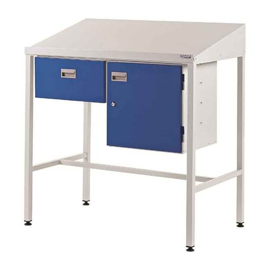 Picture of Team Leader Workstation with Single Drawer & Cupboard