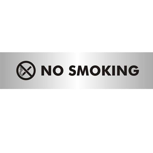 Picture of No Smoking Brushed Aluminium Office Sign