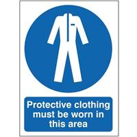 Picture of Protective Clothing Must Be Worn In This Area Sign